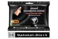 Крем-краска для волос Черный 20 г + 20 мл Diamond Shine Creme Hair Colour  (до 03-2020)