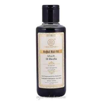 Травяное масло для волос 18 трав 210 мл - Herbal hair oil 18 herbs 210 ml Khadi