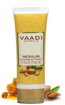 Отбеливающая маска для лица Миндаль и мед Vaadi, 120 г